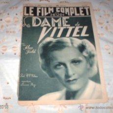 Cine: REVISTA DE CINE FRANCESA LE FILM COMPLET . Nº 1953. 20-5-1937. Lote 39752042
