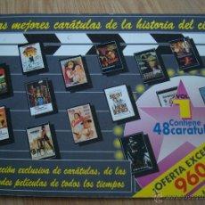 Cine: LIBRO LAS MEJORES CARATULAS DE LA HISTORIA DEL CINE, 48 CARATULAS, DE LAS MEJORES PELICULAS. Lote 39788135