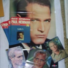 Cine: 19 REVISTAS DE PAUL NEWMAN - FILM COLLECTION - MAS 4 POSTERS EL MAS GRANDE MIDE 87X54 CM. Lote 39859097