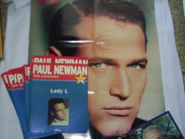 Cine: 19 REVISTAS DE PAUL NEWMAN - FILM COLLECTION - MAS 4 POSTERS EL MAS GRANDE MIDE 87X54 CM - Foto 2 - 39859097