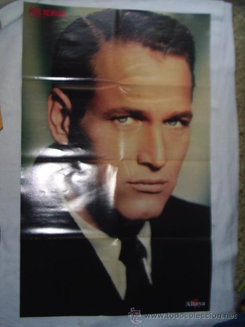 Cine: 19 REVISTAS DE PAUL NEWMAN - FILM COLLECTION - MAS 4 POSTERS EL MAS GRANDE MIDE 87X54 CM - Foto 4 - 39859097