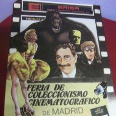 Cine: CARTEL DE LA FERIA DE COLECCIONISMO CINEMATOGRAFICO DE MADRID SELLO ERISA MEDIDAS 48 X 68 CTMS. Lote 39904323