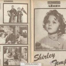 Cine: FOTOGRAMAS ALBUM REVISTA,- SHIRLEY TEMPLE - 16 PÁGINAS, N º 8*. Lote 39966076