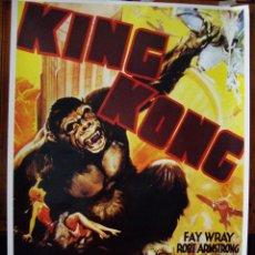 Cine: KING KONG, CON FAY WRAY. POSTER-REPRODUCCIÓN. 68 X 98 CMS.. Lote 159558642