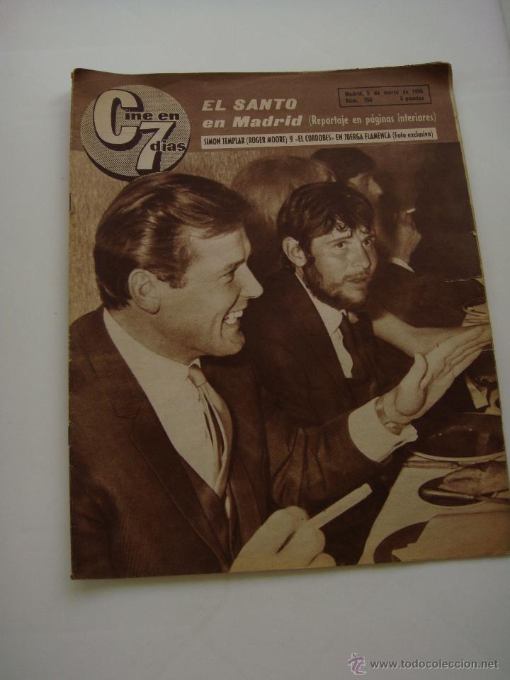 CINE EN 7 DIAS Nº 256, 5 DE MARZO DE 1966, PORT. ROGER MOORE Y MANUEL BENITEZ (Cine - Revistas - Cine en 7 dias)