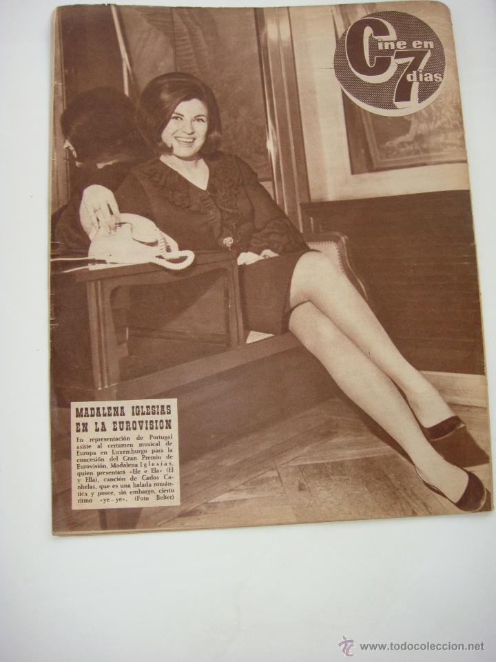 Cine: cine en 7 dias nº 256, 5 de marzo de 1966, port. roger moore y manuel benitez - Foto 2 - 40150288