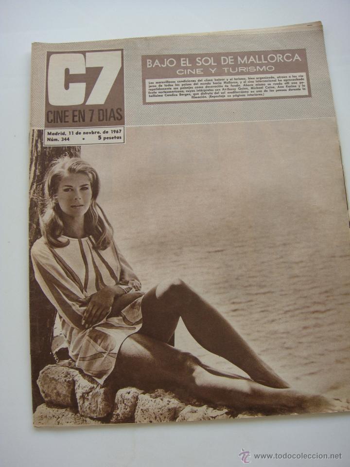 CINE EN 7 DIAS Nº 344, 11 NOVIEMBRE 1967, PORT. CANDICE BERGEN (Cine - Revistas - Cine en 7 dias)
