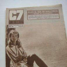 Cine: CINE EN 7 DIAS Nº 344, 11 NOVIEMBRE 1967, PORT. CANDICE BERGEN. Lote 40150555