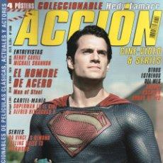 Cine: ACCION N. 1306 JUNIO 2013 - EN PORTADA: SUPERMAN, EL HOMBRE DE ACERO (NUEVA). Lote 117561078