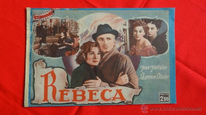 REBECA, REVISTA 20 PÁG. CINEVIDA JOAN FONTAINE LAURENCE OLIVIER (Cine - Revistas - Colección grandes películas)