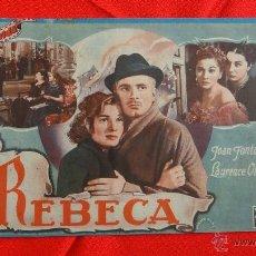 Cine: REBECA, REVISTA 20 PÁG. CINEVIDA JOAN FONTAINE LAURENCE OLIVIER. Lote 40163405