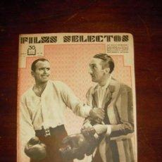 Cine: FILMS SELECTOS. AÑO II, N.º 38. JULIO DE 1931.. Lote 40175499