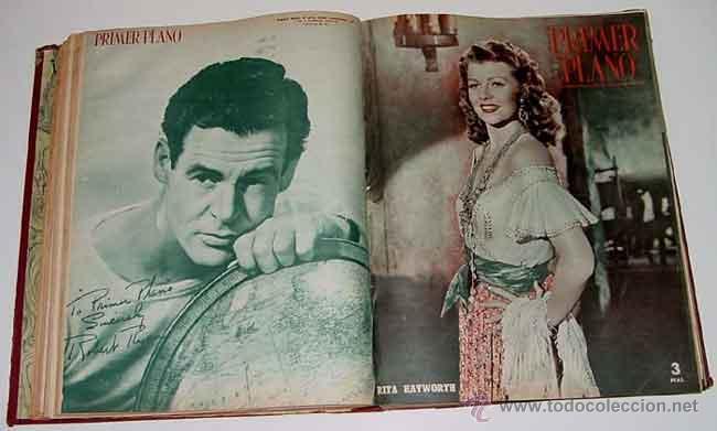 19 ANTIGUAS REVISTAS ENCUADERNADAS PRIMER PLANO - AÑO 1950 - 1951 DE LA NUMERO 537 - A LA 550 AMBAS (Cine - Revistas - Otros)