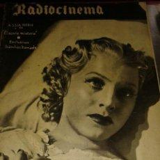 Cinema: REVISTA RADIOCINEMA Nº9 PORTADA ASSIA NORIS. Lote 40274445