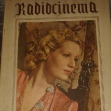 Cine: REVISTA RADIOCINEMA DIFICIL DE ENCONTRAR. Lote 40274973