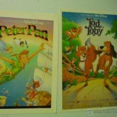 Cine: LOTE PROGRAMAS MODERNOS A IMPRENTA PELICULAS DISNEY PETER PAN - TOD Y TOBY. Lote 40293734