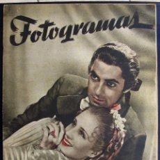 Cine: REVISTA FOTOGRAMAS Nº 29 -1948 TYRONE POWER NORMA SHEARER. Lote 40383427