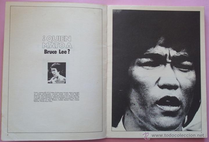 Cine: REVISTA KUNG - FU ¿QUIEN MATÓ A BRUCE LEE? No.4 AÑO 1978 - Foto 2 - 40383741
