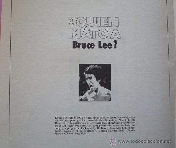 Cine: REVISTA KUNG - FU ¿QUIEN MATÓ A BRUCE LEE? No.4 AÑO 1978 - Foto 3 - 40383741