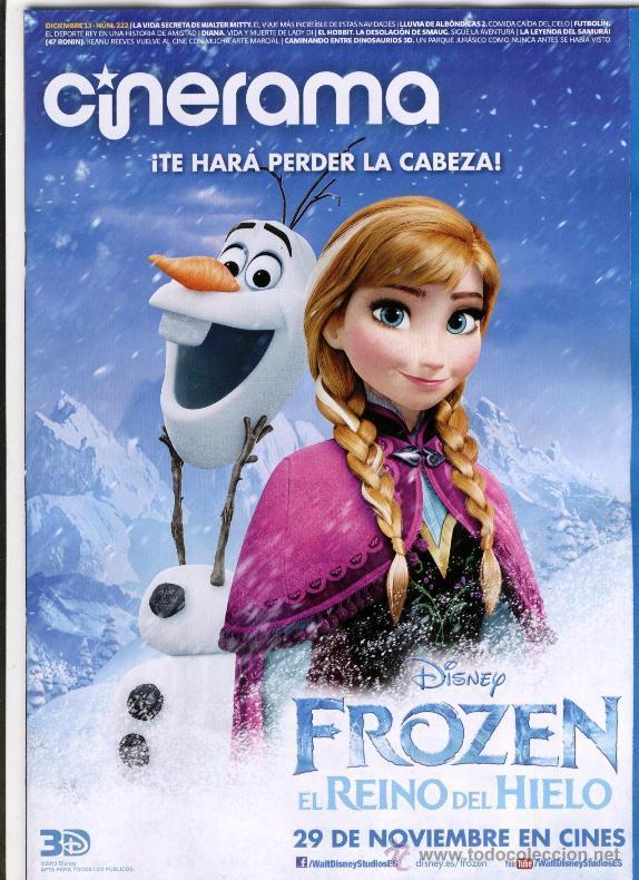 REVISTA CINERAMA * DICIEMBRE 2013 - PORTADA: FROZEN: EL REINO DEL HIELO (Cine - Revistas - Cinerama)