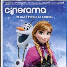 Cine: REVISTA CINERAMA * DICIEMBRE 2013 - PORTADA: FROZEN: EL REINO DEL HIELO. Lote 40636161