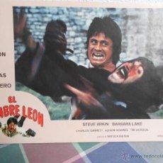 Cine: CARTEL DE PELICULA EL HOMBRE LEON.AFICHE DE CARTON DURO.. Lote 40421466