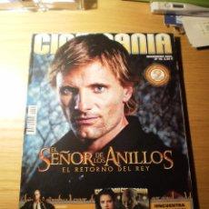 Cine: REVISTA CINEMANIA Nº 99 DICIEMBRE 2003 (PORTADA VIGO MORTENSEN: EL SEÑOR DE LOS ANILLOS RETORNO REY. Lote 25543256
