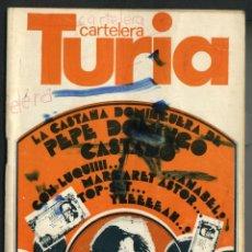 Cine: CARTELERA TURIA Nº 734 - 1978. Lote 40479424