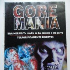 Cine: GOREMANIA Nº 1 . BRAINDEAD . TERRORIFÍCAMENTE MUERTOS. Lote 40619998