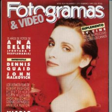 Cine: ANA BELEN. REVISTA FOTOGRAMAS, AÑO1991.. Lote 40676081