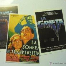 Cine: LOTE TERROR PROGRAMAS MODERNOS GREMLINS 2-LA GRIETA- LA SOMBRA DE FRANKENSTEIN. Lote 40807846