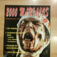 Cine: 2000 MANIACOS Nº 14. GEORGE A. ROMERO, ED WOOD, LEON KLIMOWSKY.... Lote 40912761