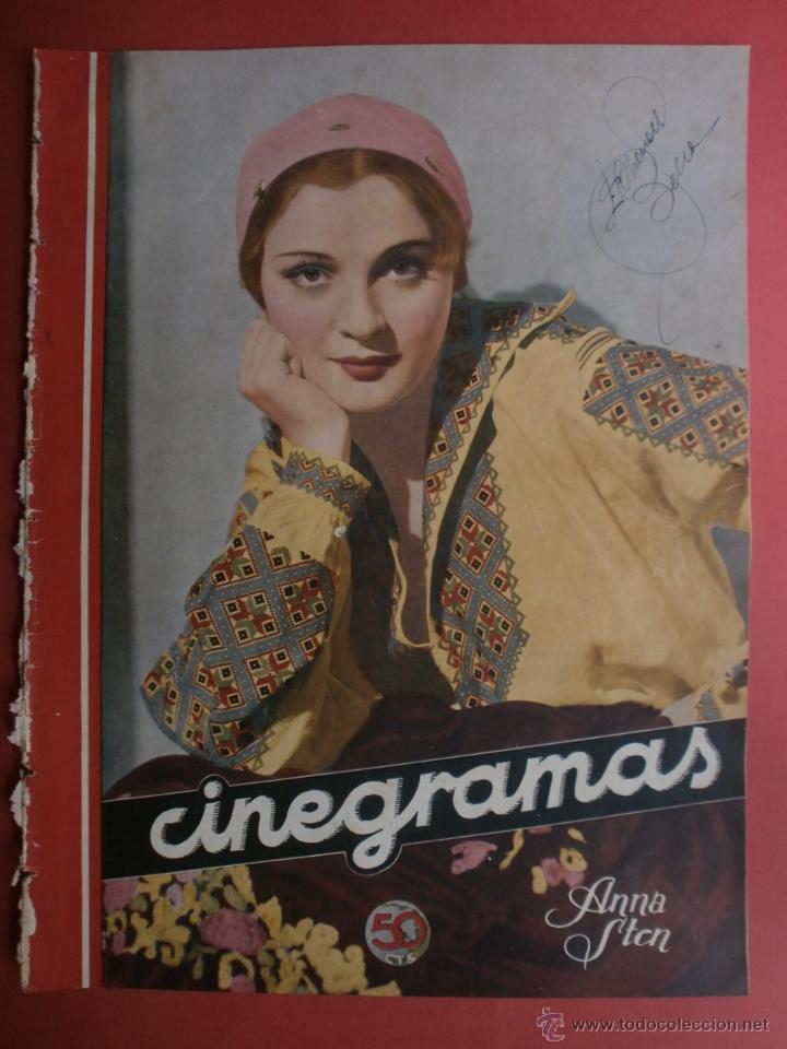 CINEGRAMAS Nº24.1935.ANNA STEN.MARGARITA GAUTIER,NORMA SHEARER,BENITO PEROJO,WILLIAM POWELL. (Cine - Revistas - Cinegramas)