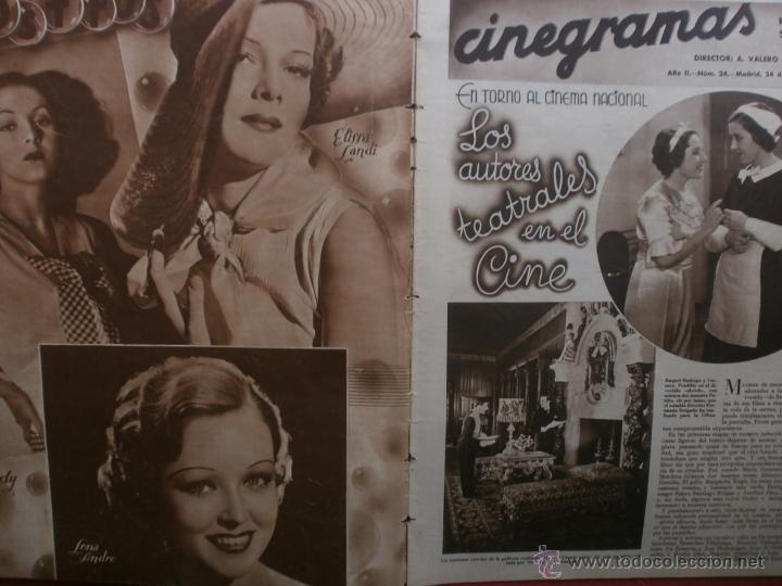 Cine: CINEGRAMAS Nº24.1935.ANNA STEN.MARGARITA GAUTIER,NORMA SHEARER,BENITO PEROJO,WILLIAM POWELL. - Foto 2 - 40964231
