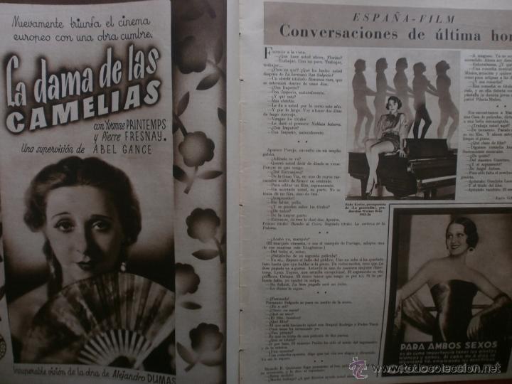 Cine: CINEGRAMAS Nº24.1935.ANNA STEN.MARGARITA GAUTIER,NORMA SHEARER,BENITO PEROJO,WILLIAM POWELL. - Foto 6 - 40964231