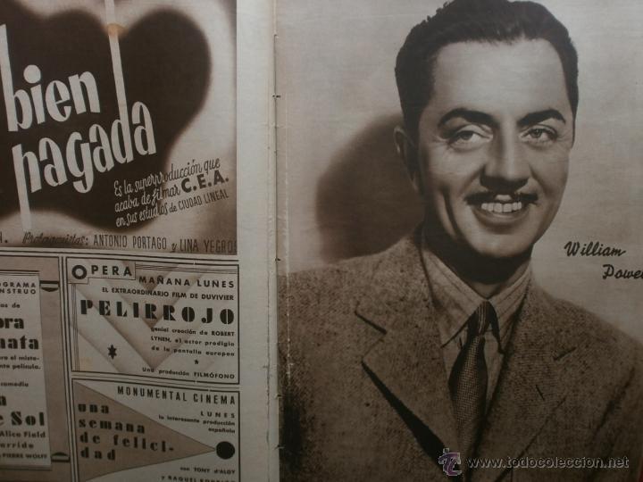 Cine: CINEGRAMAS Nº24.1935.ANNA STEN.MARGARITA GAUTIER,NORMA SHEARER,BENITO PEROJO,WILLIAM POWELL. - Foto 11 - 40964231