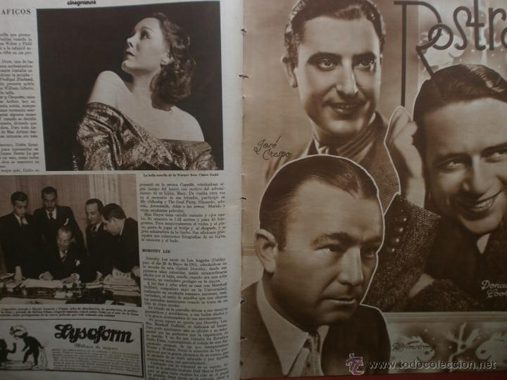 Cine: CINEGRAMAS Nº24.1935.ANNA STEN.MARGARITA GAUTIER,NORMA SHEARER,BENITO PEROJO,WILLIAM POWELL. - Foto 16 - 40964231