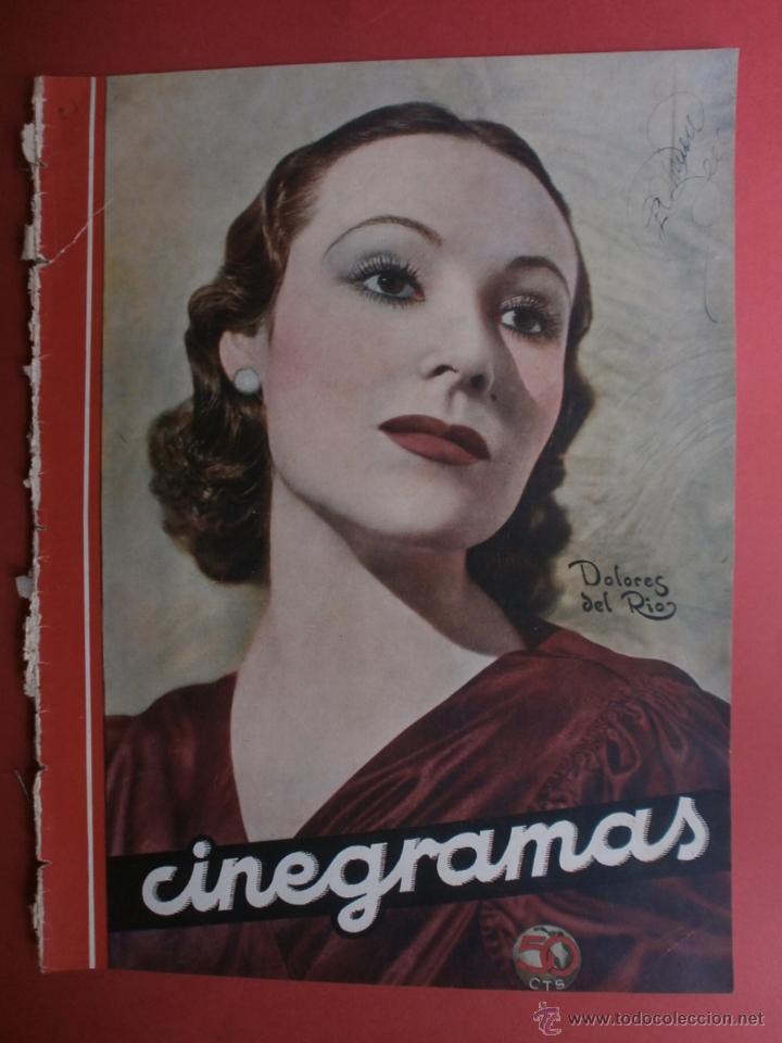 CINEGRAMAS Nº23.1935.DOLORES DEL RIO.CATALINA BARCENA,MAX BAER,VICENTE PADULA,FREDRIC MARCH,M.LINDER (Cine - Revistas - Cinegramas)