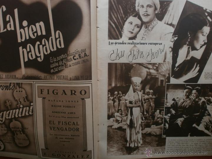 Cine: CINEGRAMAS Nº23.1935.DOLORES DEL RIO.CATALINA BARCENA,MAX BAER,VICENTE PADULA,FREDRIC MARCH,M.LINDER - Foto 6 - 40964482