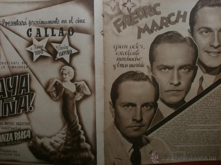 Cine: CINEGRAMAS Nº23.1935.DOLORES DEL RIO.CATALINA BARCENA,MAX BAER,VICENTE PADULA,FREDRIC MARCH,M.LINDER - Foto 12 - 40964482