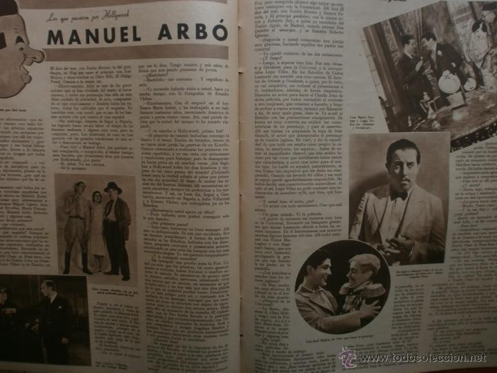 Cine: CINEGRAMAS Nº23.1935.DOLORES DEL RIO.CATALINA BARCENA,MAX BAER,VICENTE PADULA,FREDRIC MARCH,M.LINDER - Foto 16 - 40964482