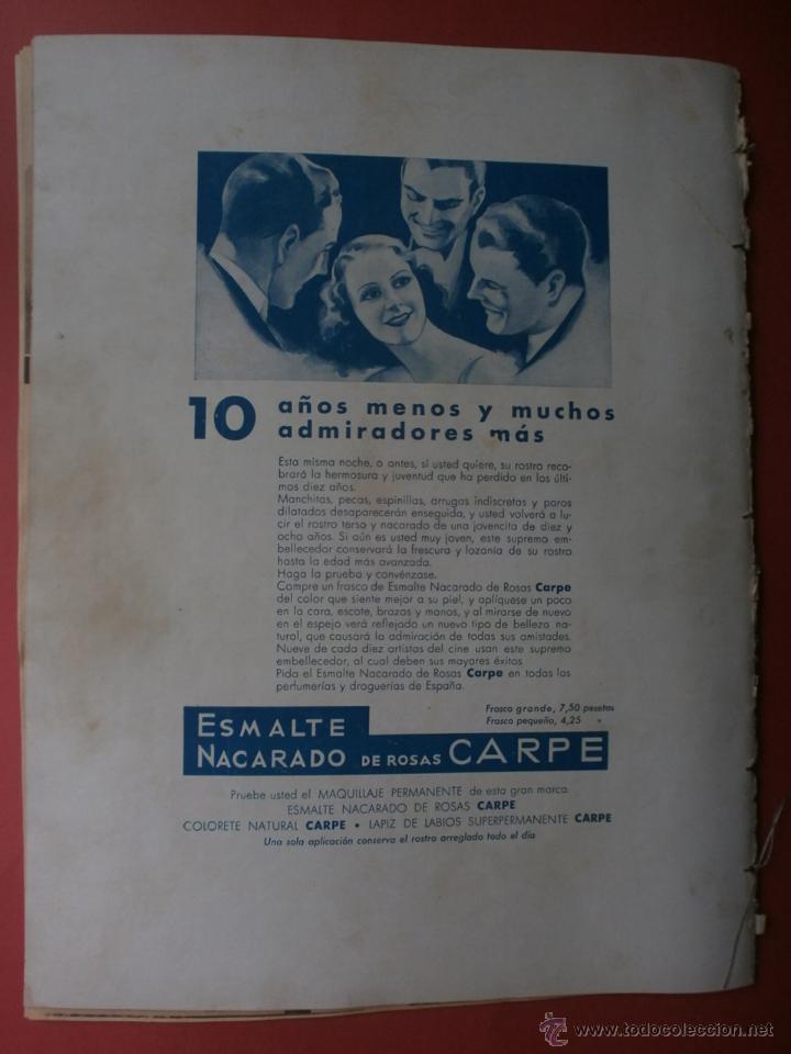 Cine: CINEGRAMAS Nº23.1935.DOLORES DEL RIO.CATALINA BARCENA,MAX BAER,VICENTE PADULA,FREDRIC MARCH,M.LINDER - Foto 18 - 40964482