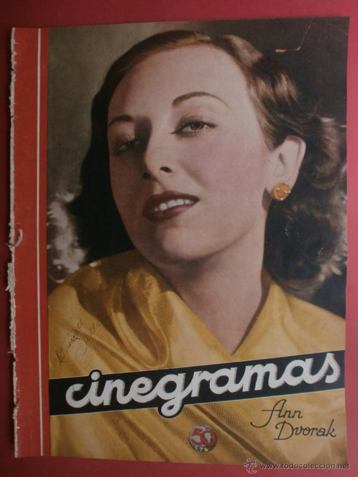 CINEGRAMAS Nº21.1935.ANN DVORAK.JEAN HARLOW,CARMINE GALLONE,FRITZ LANG,BARBARA STANWYCK,CLARK GABLE. (Cine - Revistas - Cinegramas)