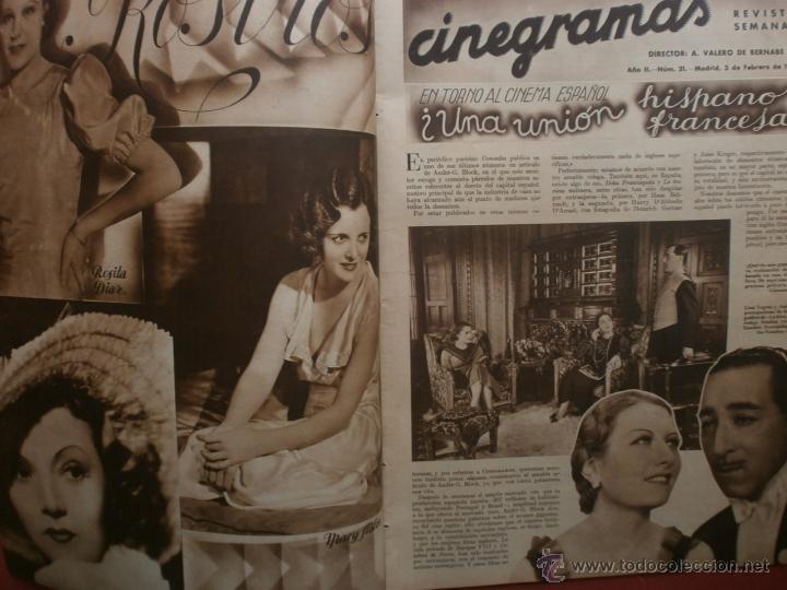 Cine: CINEGRAMAS Nº21.1935.ANN DVORAK.JEAN HARLOW,CARMINE GALLONE,FRITZ LANG,BARBARA STANWYCK,CLARK GABLE. - Foto 2 - 40964973