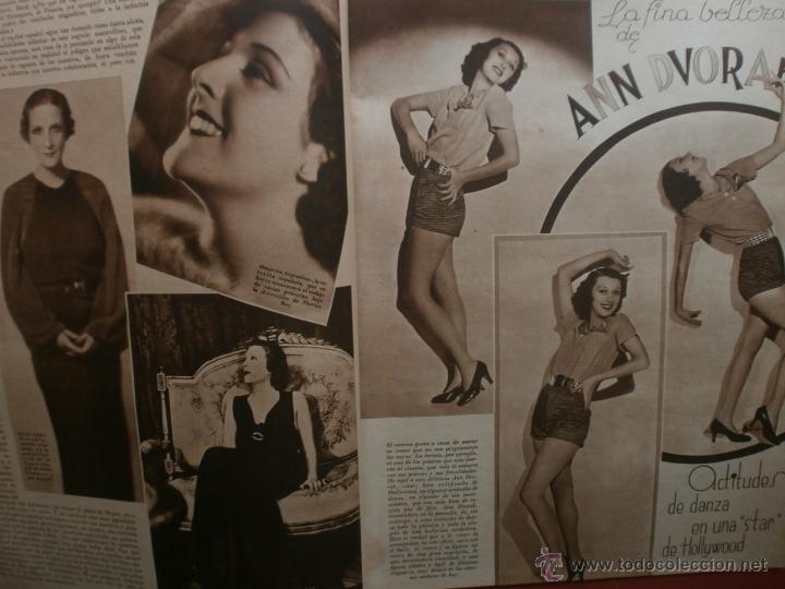 Cine: CINEGRAMAS Nº21.1935.ANN DVORAK.JEAN HARLOW,CARMINE GALLONE,FRITZ LANG,BARBARA STANWYCK,CLARK GABLE. - Foto 3 - 40964973