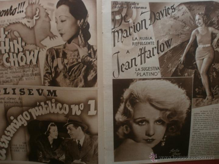 Cine: CINEGRAMAS Nº21.1935.ANN DVORAK.JEAN HARLOW,CARMINE GALLONE,FRITZ LANG,BARBARA STANWYCK,CLARK GABLE. - Foto 8 - 40964973