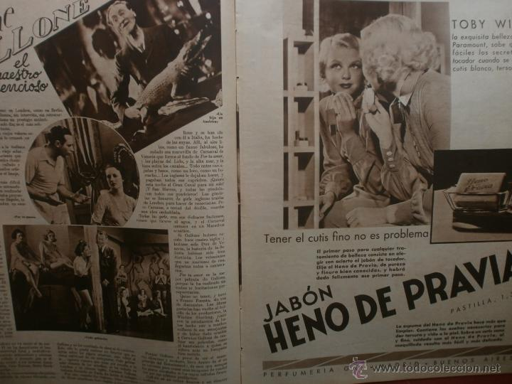 Cine: CINEGRAMAS Nº21.1935.ANN DVORAK.JEAN HARLOW,CARMINE GALLONE,FRITZ LANG,BARBARA STANWYCK,CLARK GABLE. - Foto 10 - 40964973