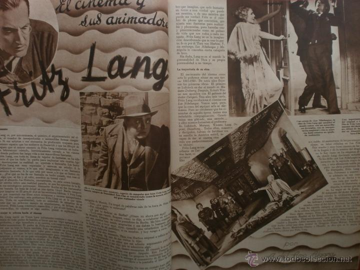 Cine: CINEGRAMAS Nº21.1935.ANN DVORAK.JEAN HARLOW,CARMINE GALLONE,FRITZ LANG,BARBARA STANWYCK,CLARK GABLE. - Foto 11 - 40964973