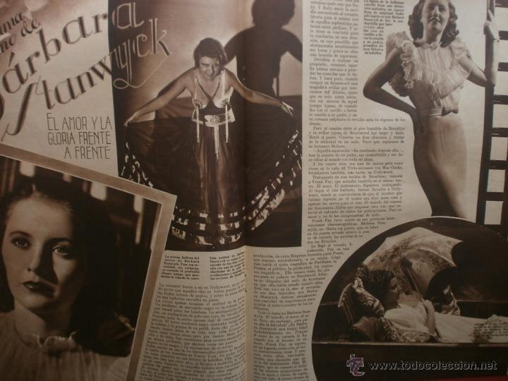Cine: CINEGRAMAS Nº21.1935.ANN DVORAK.JEAN HARLOW,CARMINE GALLONE,FRITZ LANG,BARBARA STANWYCK,CLARK GABLE. - Foto 12 - 40964973