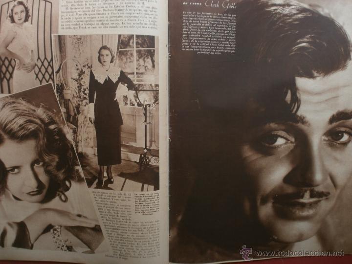 Cine: CINEGRAMAS Nº21.1935.ANN DVORAK.JEAN HARLOW,CARMINE GALLONE,FRITZ LANG,BARBARA STANWYCK,CLARK GABLE. - Foto 13 - 40964973